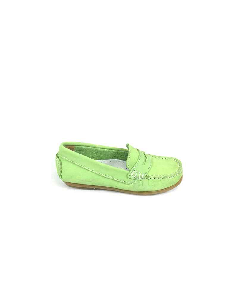 MOCASIN NOBUK ANTIFAZ COLOR PISTACHO