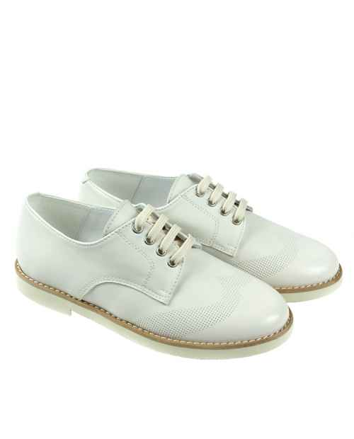 ZAPATO PIEL BEIGE CORDON RUTH SHOES