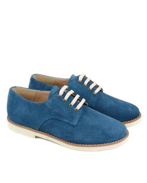 ZAPATO COMUNION NIÑO AZUL RUTH SHOES