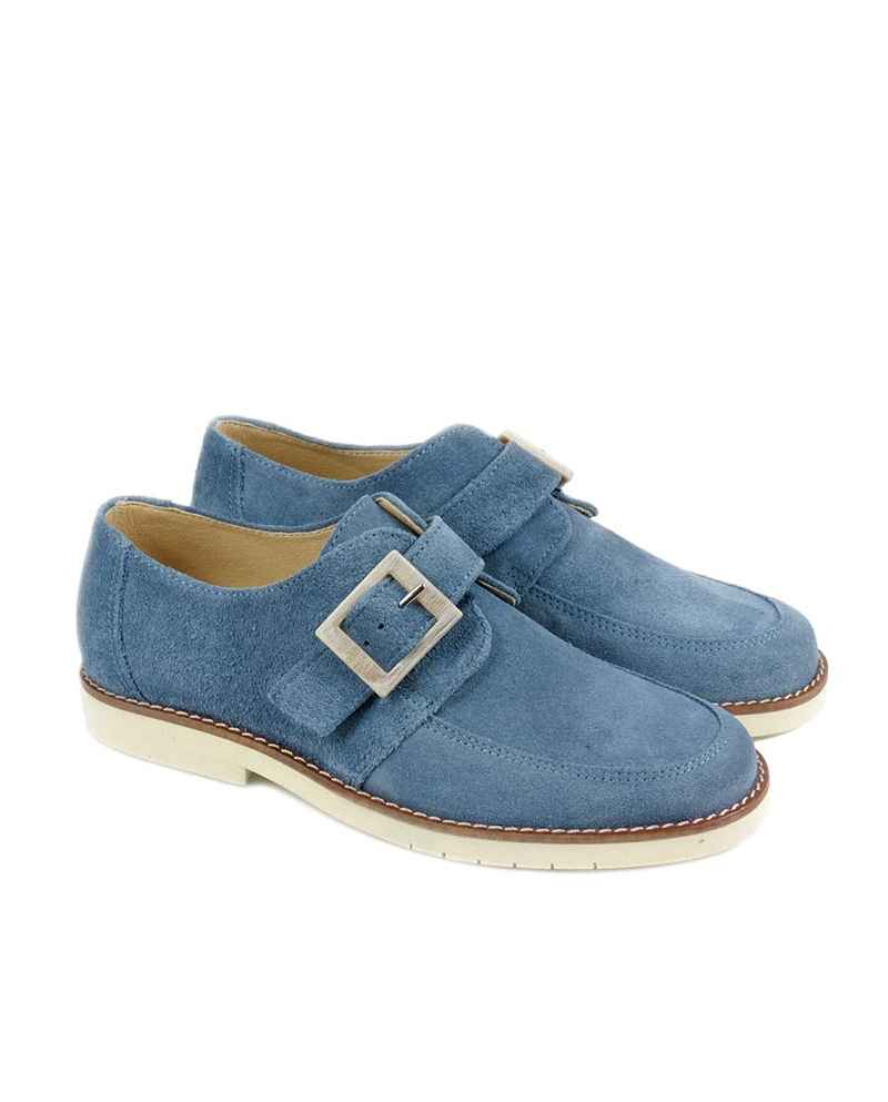 ZAPATO NIÑO MARIA CATALAN COLOR AZUL COMUNION
