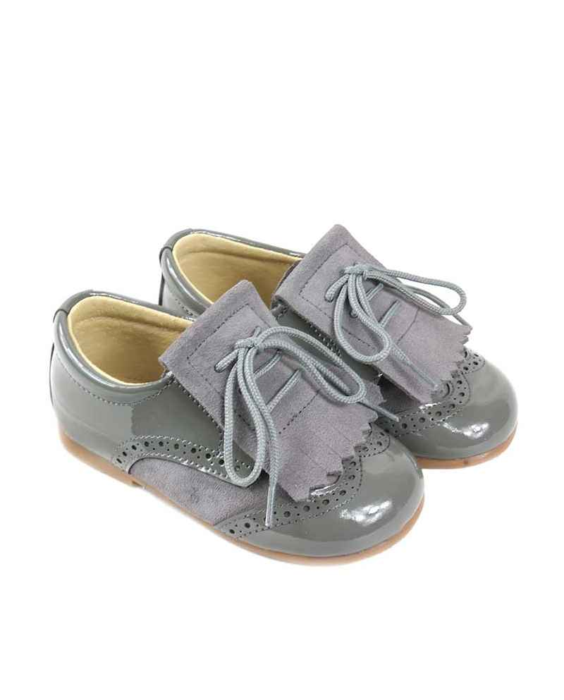 ZAPATITO BLUCHER UNISEX COLOR GRIS